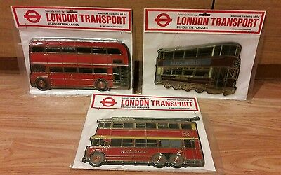 Lqqk Set Of 3 London Transport 'silhouette Plaques' 1980 In Originally Packaging