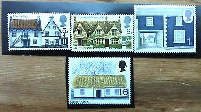 GB 1970 rural srchitecture stamps mint MNH