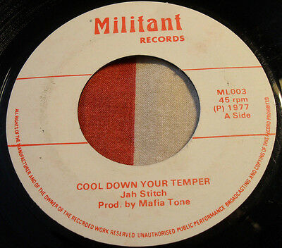 Reggae Roots Jah Stitch Cool Down Your Temper/militant Rd/1977 Pressing