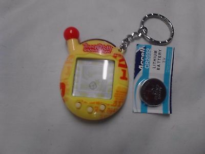 Tammagotchi Connection Yellow Red Numbers Giga Pet virtual bandai New Battery