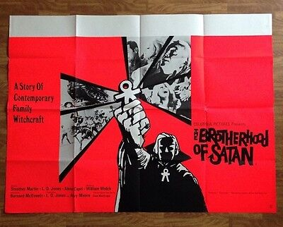 The Brotherhood Of Satan -Original British Quad Cinema Movie Poster - Horror