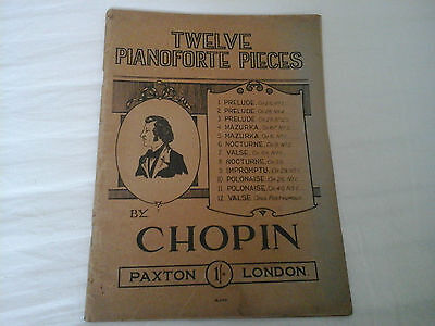12 Pianoforte Pieces By Chopin Sheet Music