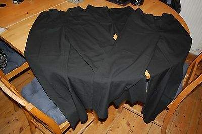 "Boys black school trousers aged 15 and 34"" waist, 3 pairs"