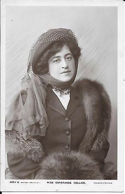 Superb Real Photographic Postcard Of Actress Miss Constance Collier
