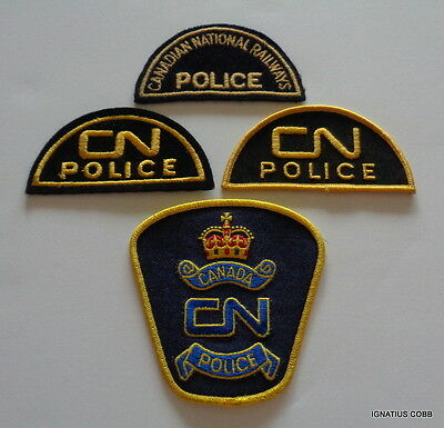 Canadian National CN Police Patches (Lot of 4)