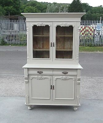 Antique Shabby Chic  Housekeepers Cupboard / Bookcase   Delivery Available