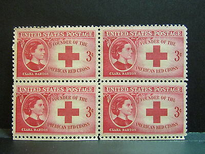 Clara Barton - Red Cross American Founder - MInt 1948 Block of 4 Stamps