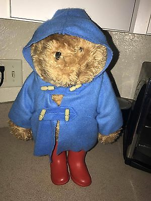 vintage Eden toys paddington bear with rain boots 20""