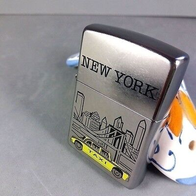 Zippo New York NY Skyline Yellow Taxi Limited Edition Lighter Unused Box RARE