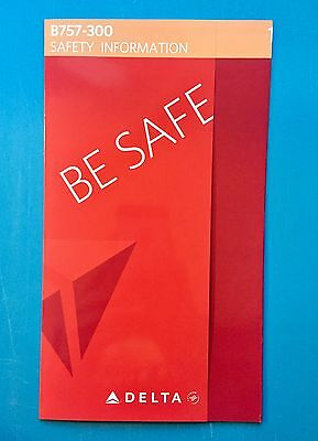 Delta Airlines 757-300 Safety Card