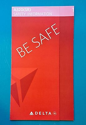 Delta Airlines Safety Card--Airbus 320Sr