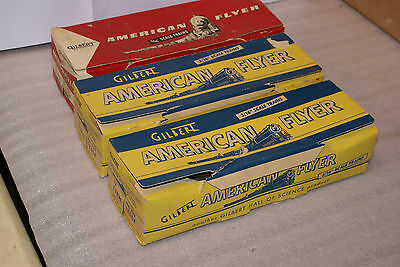 Lot of 3 boxes Gilbert American Flyer 3/16 Scale Curve Track 702 33/36