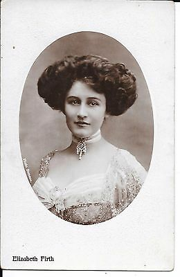 Superb Real Photographic Postcard Of Actress Elizabeth Firth