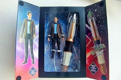New! Doctor Who Eleventh Sonic Screwdriver in Tardis Box w/ 11th Action Figure