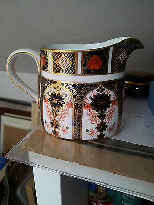Royal Crown Derby  Old Imari 1128 Milk Jug 1st Quality Mint.