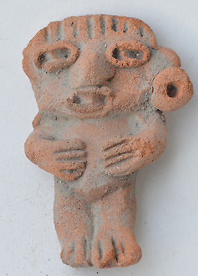 Michoacan child figure terracotta pottery pre columbian Mexico.