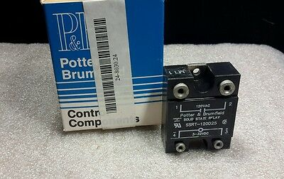 Potter & Brumfield Ssrt-120D25 Solid State Relay 120Vac New $29