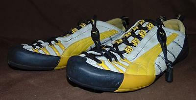 Puma Gray/Yellow/Black US 6.5/Eur 38.5 Leather-Trim Climbing Shoes! EUC!