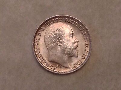 - 1902 Great Britain  Edward VII Silver Penny Maundy 8,976 Minted Uncirculated