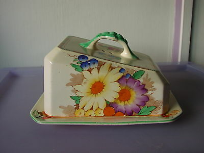 """Vintage Keeling & Co Ltd """"Losol Ware"""" Cheese Dish With Floral Pattern 1930's"""