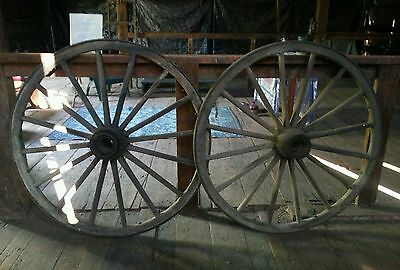 "wagon wheels, 2-52"" diameter, good condition, kept in barn for many years"