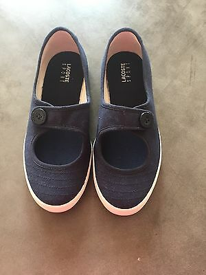 Girls Navy Lacoste Shoes Size 1