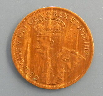 Canada One Cent Coin 1917 George V