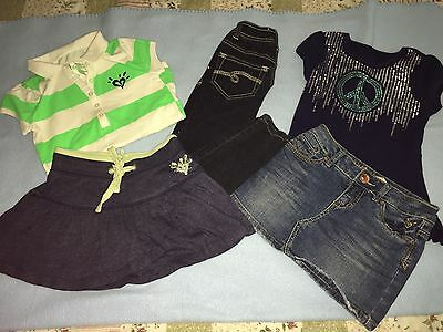Justice Girls Lot Of Clothes (Lot Of 5)...all Size 7S-7R