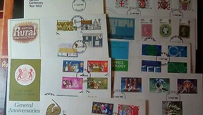 GB FDC collection 8 covers clearance