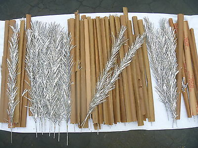 60 Aluminum Branches Christmas Tree Vintage Replacement 24 Inches Silver