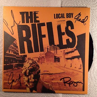 """The Rifles Local boy 2  7"""" single one signed mint"""