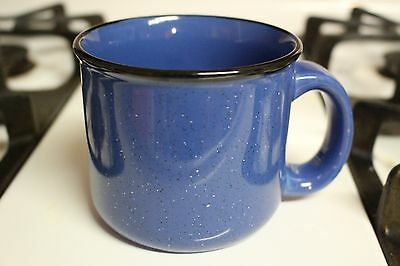 Marlboro Unlimited Blue Speckled Thick Stoneware Coffee Mug Soup Cup Collector