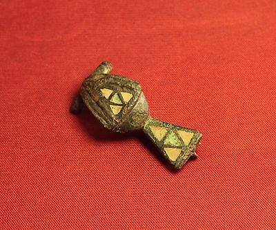 Ancient Roman Enamelled Turtle Shape Fibula or Brooch, 2. Century