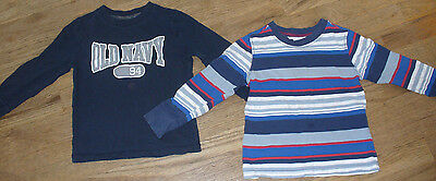 Old Navy Lot of 5 Boys Shirt / Shirts EUC Solid and Striped Size 4T