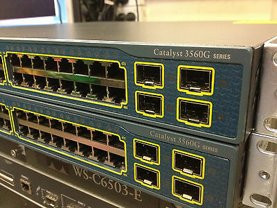 CISCO WS-C3560G-48TS-S 48 Port Gig Switch Layer 3 CCIE CCNA Ideal