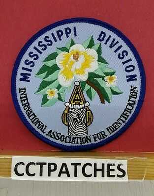 Mississippi Division International Association For Identifications Patch Ms
