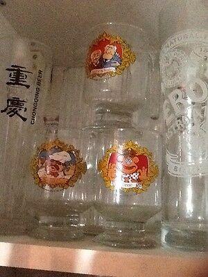 vintage the muppets glasses, Drinking glasses x3 excellent condition