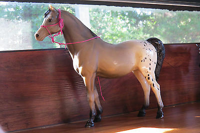 Vintage Breyer Traditional Family Arabian Mare Speck Appaloosa with Rope Halter