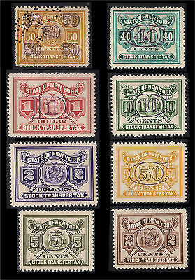 US BOB State of New York Stock Transfer Tax Stamps 2 Cents to $2