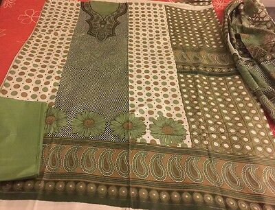 Pakistani Indian Cambric Cotton UN-STITCHED SHALWAR KAMEEZ SUIT