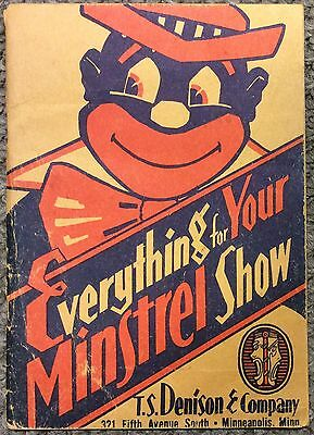 Vintage 1953 Everything For Your Minstrel Show, Illustrated Catalog