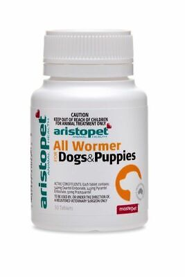 Aristopet All Wormer Tablets for worming Dogs & Puppies x 50 Pack worm dogs