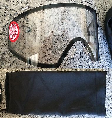JT Spectra ProFlex Clear Thermal Lens & BAG Paintball Mask Goggle Proflex Flex 8