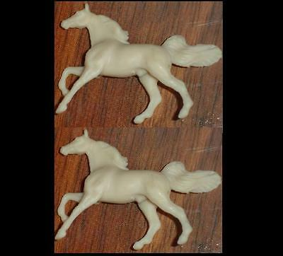 2 Breyer FACTORY UNPAINTED Mini Whinnies for CM earrings or other 700676