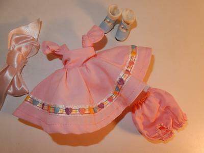 Ginny Doll Vogue Tagged Outfit Pink Sweet Dress Panties Blue Shoes Lot