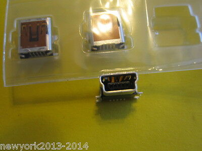 MOLEX 54819-0572(Mini-B Receptacle, Right Angle, SMT Solder Tails and Shell Tabs