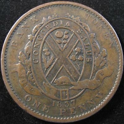 P286 - 1837 - Lower Canada - 1 Penny Bank Token - Lc-9B3 - Nr