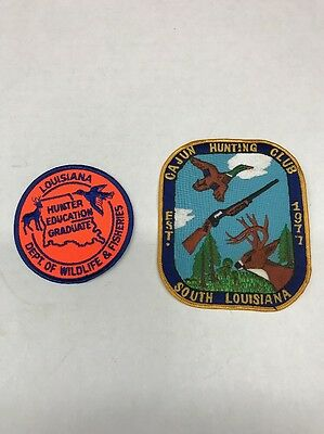 Vintage Cajun Hunting Club Embroidered Patch, 1977