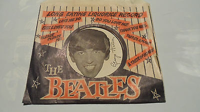 Vintage The Beatles Liquorice Candy Wrapper,george Harrison,  No Candy ,original