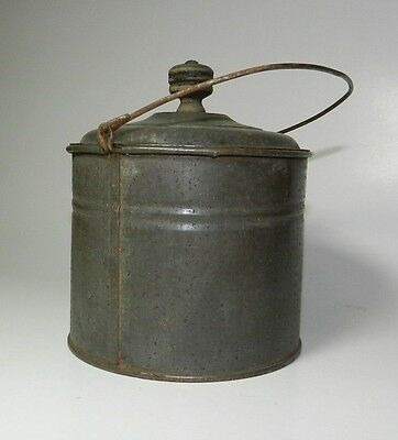 Vintage Small Rusty Bucket with Lid